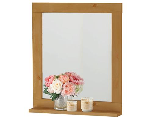 Spiegel TILO 55 x 65 cm Kiefer massiv in gebeizt geölt