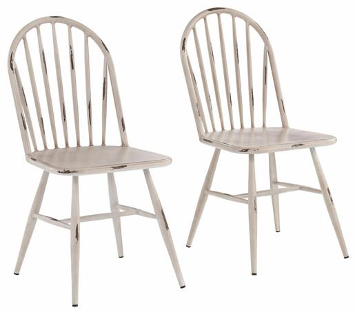 2er-Set Stühle ALANE aus Aluminium in weiß