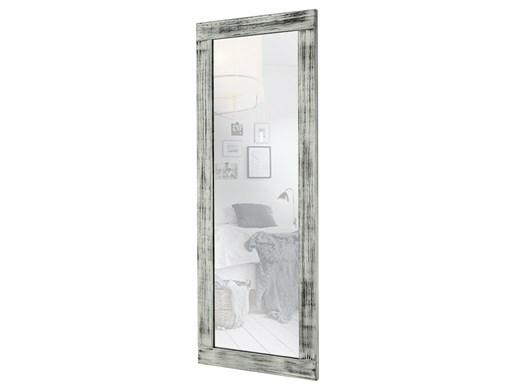 Spiegel LEVIN aus Kiefer gebürstet gebeizt in grau & weiß