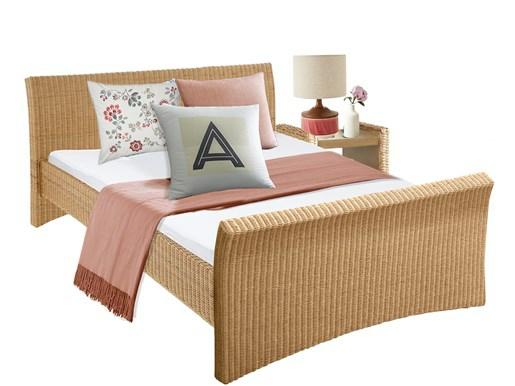 Bett NINA in 140 cm  aus Rattan in natur farbe