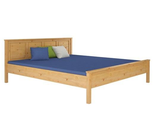 Bett VIANA 180 cm in Kiefer massiv, gebeizt geölt