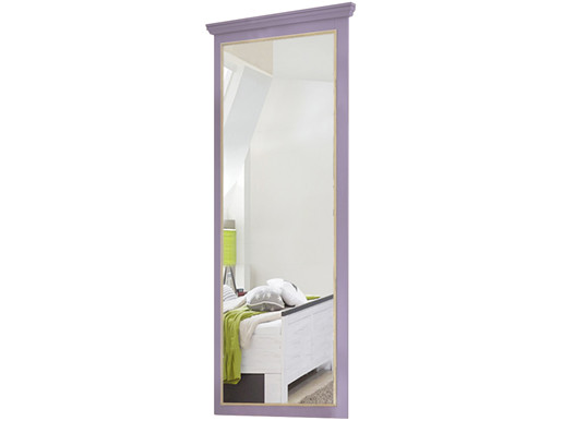 Großer Spiegel MERRY aus Kiefer massiv in lila