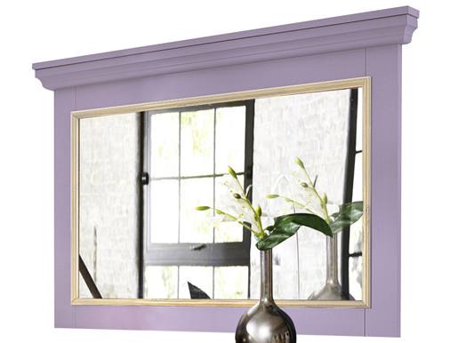Wandspiegel MERRY 90x60 cm aus Kiefer massiv in lila