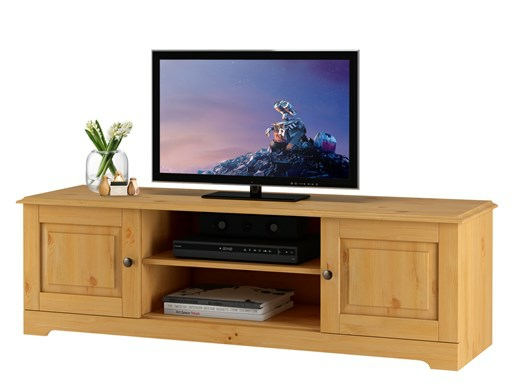 TV-Lowboard CHRISTINA aus Kiefer massiv gebeizt geölt