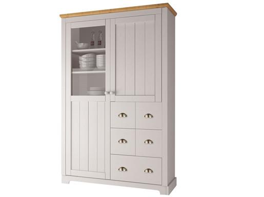 Küchenschrank FOREST aus Kiefer massiv in weiß honig
