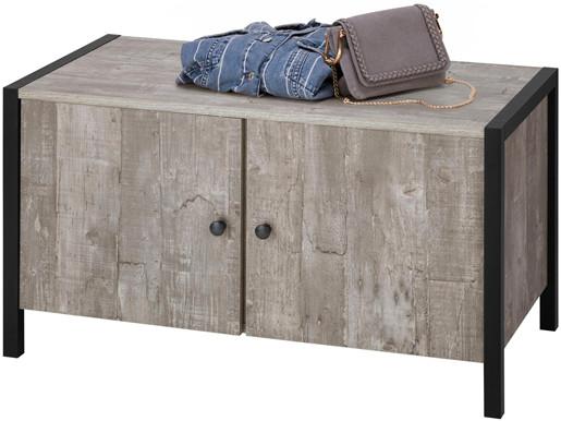 2-trg. Schuhbank CLARA in betonfarben, Breite 80 cm