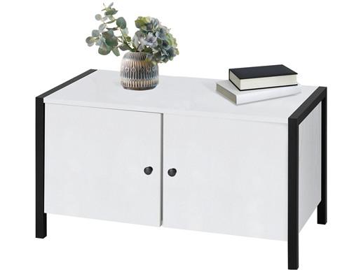 2-trg. Schuhbank CLARA in weiß Breite 80 cm