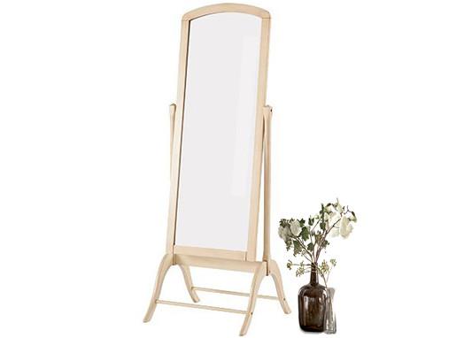 Standspiegel QUILA in creme weiß