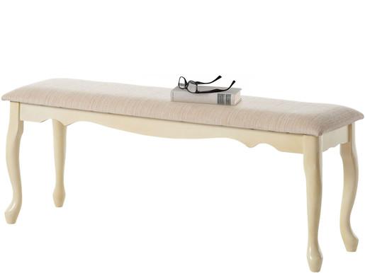Sitzbank AGATHE mit geschwungenen Beinen, 120 cm breit