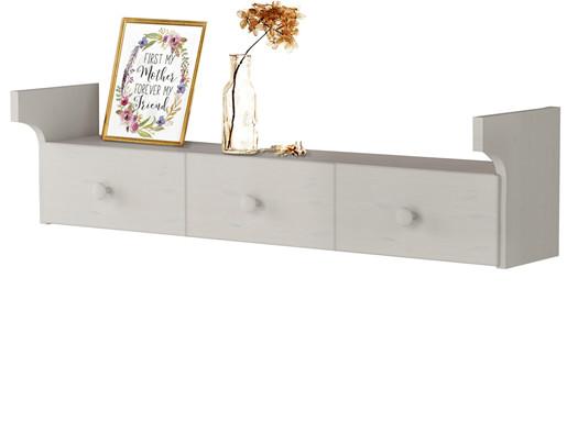 Hängeregal JENNY aus Kiefer massiv mit Schublade in weiß