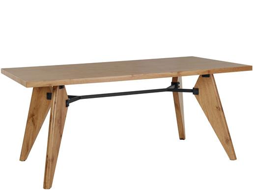 Esstisch ICARUS aus MDF in naturfarben, Tischbreite 180 cm