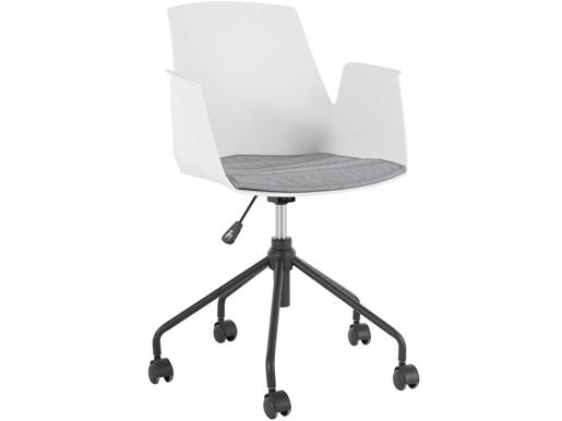 Schreibtischstuhl PALOMA Kunststoffschale in weiß