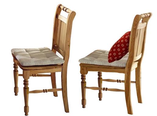 2er Set Stühle KRISTEL aus Kiefer massiv in gebeizt geölt