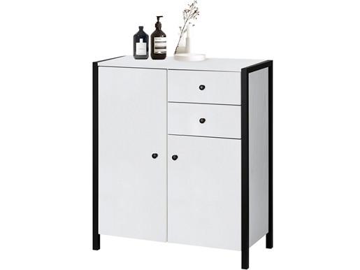 2-trg. Badezimmerschrank CLARA in weiß, Breite 75 cm