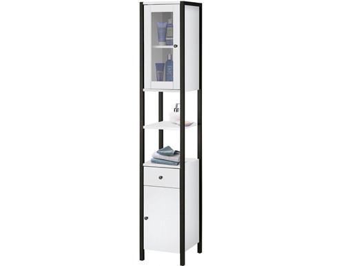 2-trg. Badezimmer Hochschrank CLARA in weiß, Höhe 180 cm