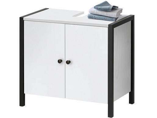 2-trg. Waschbeckenunterschrank CLARA in weiß