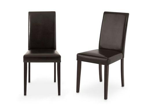 LUCAS Kunstlederstühle in braun und havana