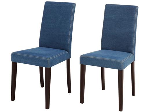 Webstoffstühle LUCAS in Jeansblau