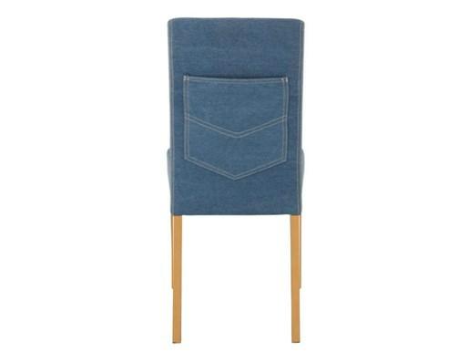 LUCAS Webstoffstühle in Jeansblau