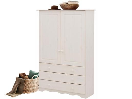 2-trg. Wäscheschrank MAISY aus Kiefer massiv in weiß