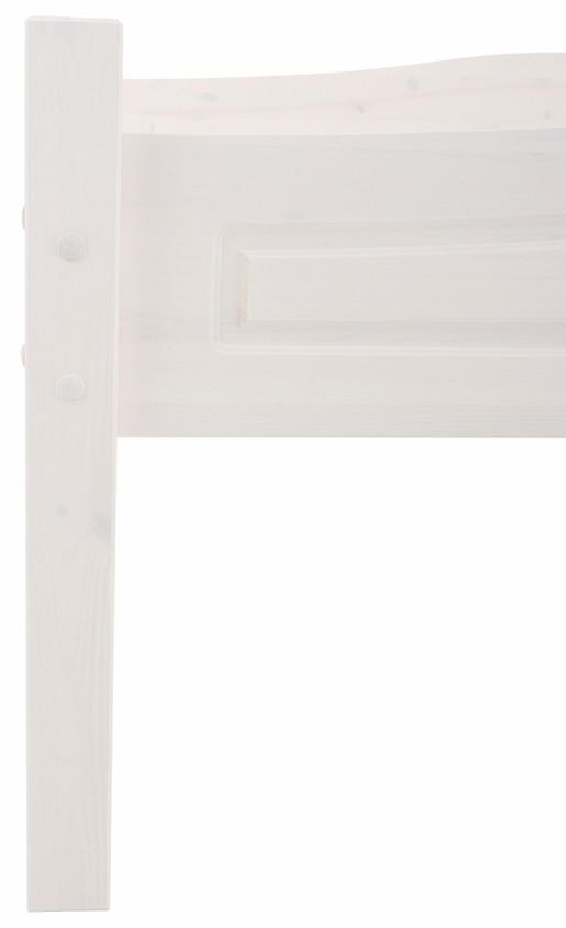Bett BROOKLYN 160x200 cm aus Kiefer massiv in weiß