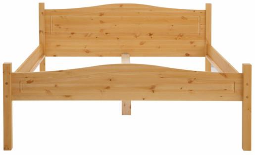 Bett BROOKLYN 180x200 cm aus Kiefer massiv in gebeizt geölt