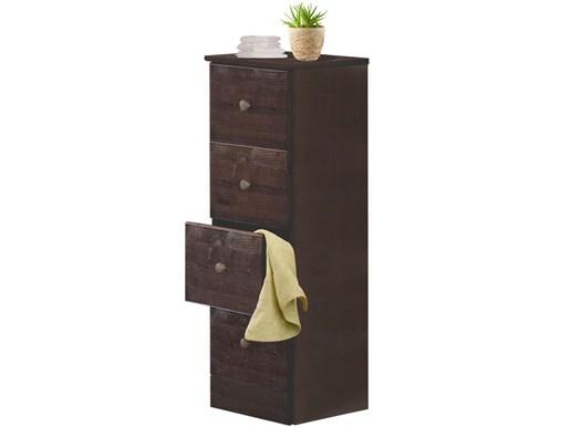 Badekommode MINNA mit 4 Schubladen in havana lackiert