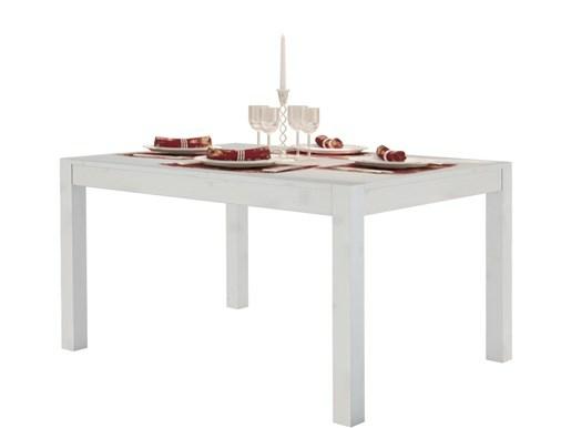 Tisch MONIQUE 140x90 aus Kiefer massiv in weiß lasiert