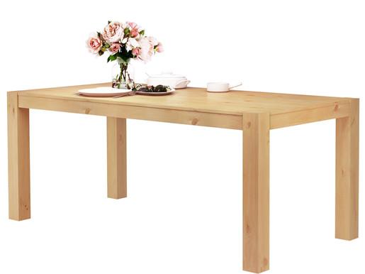 Tisch MONIQUE 180x90 cm aus Kiefer massiv, gebeizt geölt