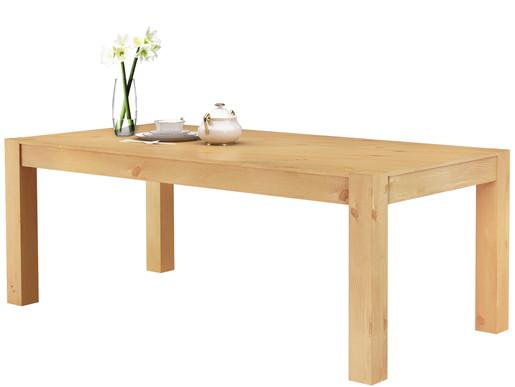 Tisch MONIQUE 200x100 cm aus Kiefer massiv in gebeizt geölt