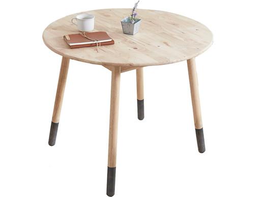 Runder Esstisch JAY Durchmesser 90 cm in Holzfarbe natur