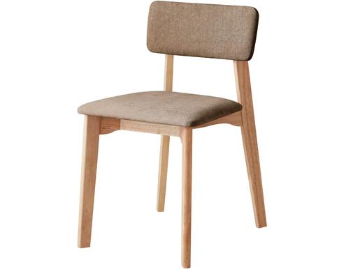 Stuhl MAZE aus Massivholz in dunkelbeige und natur