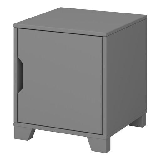 Nachtschrank LILO mit Tür in grau im modernen Design