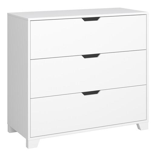 Kommode LILO mit 3 Schubladen in weiß, Breite 90 cm