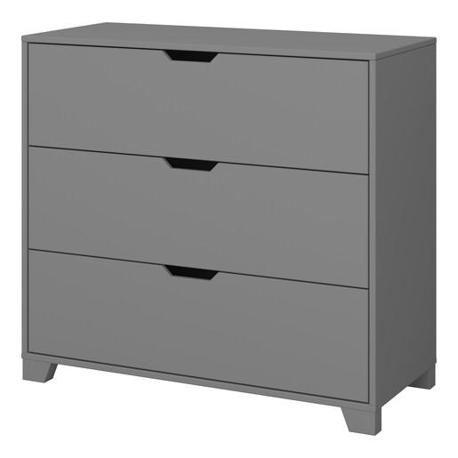Kommode LILO mit drei Schubladen in grau, Breite 90 cm
