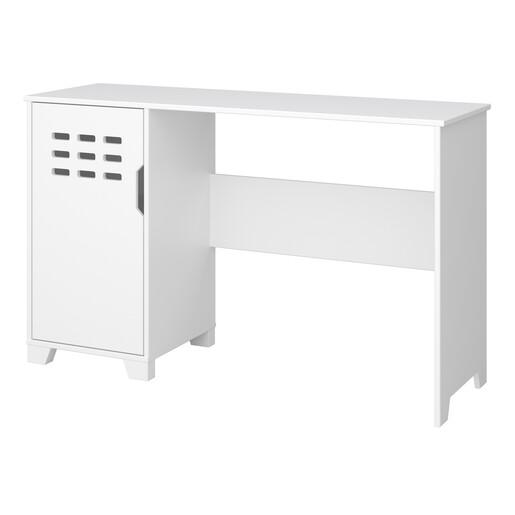 Schreibtisch LILO mit Tür in weiß, modernes Design