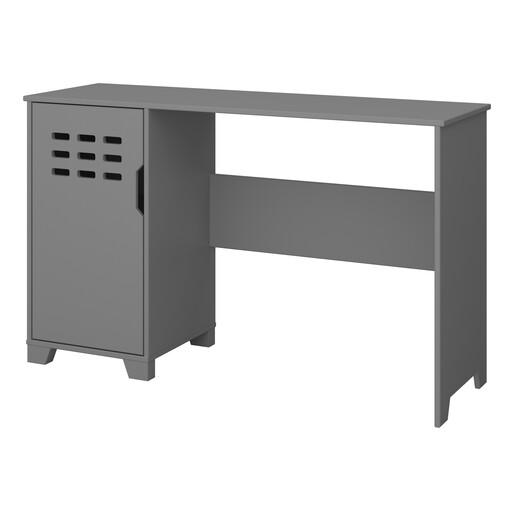 Schreibtisch LILO mit Tür in grau, modernes Design