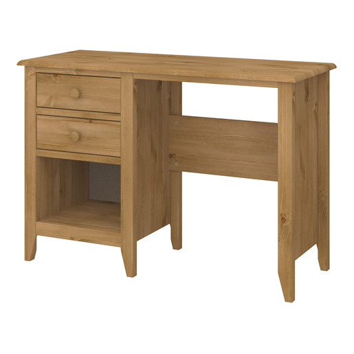 Schreibtisch HERA mit 2 Schubladen aus MDF in gebeizt geölt