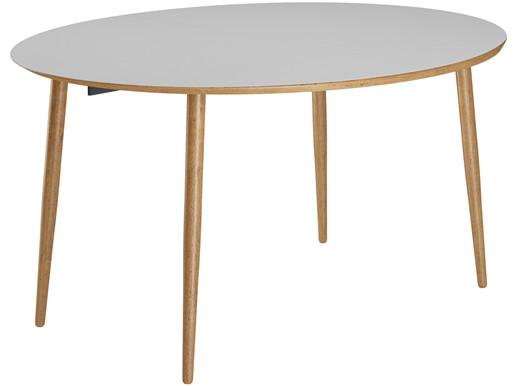 Esstisch MORTEN ovale Tischplatte, 120 cm aus MDF in grau