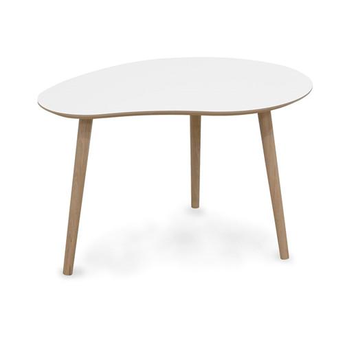 Kleiner Couchtisch MONA im skandinavischen Design in weiß