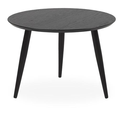 Runder Couchtisch FABIAN aus Eiche in schwarz, 60x42 cm