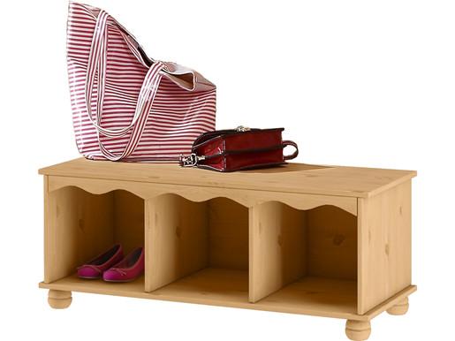 Garderobenbank SUNE aus Kiefer massiv in gebeitz geölt