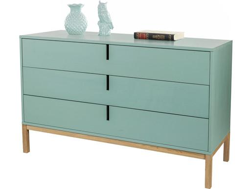 Kommode SESI mit 3 Schubladen im Modernen Retro-Design