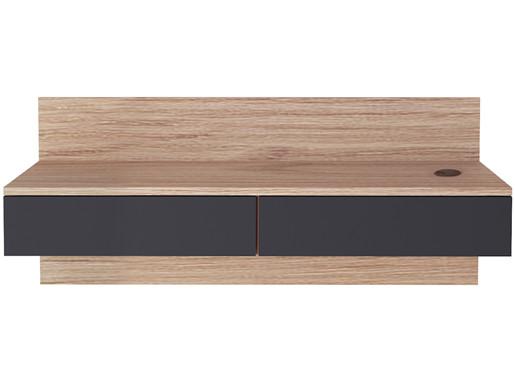 Schreibtisch LINUS mit 2 Schubladen in Albany/grafit, 96 cm