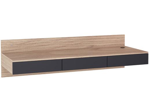 Hängender Schreibtisch LINUS mit 3 Schubladen, 144 cm