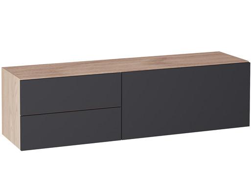 Hängeschrank LINUS mit 2 Schubladen, 1 Klappe, Breite 120 cm