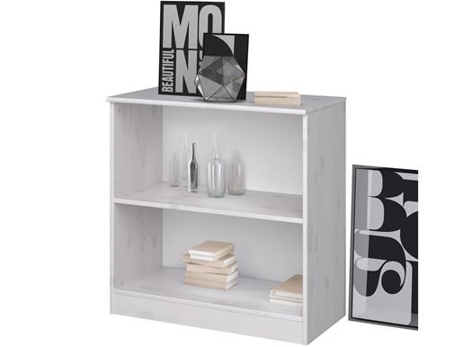Bücherregal KIDDY aus Kiefer massiv in weiß