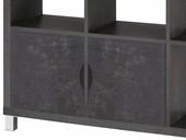 2er Set Tür KNOX aus Holzwerkstoff in beton