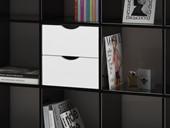 Regal KNOX mit 9 Fächern in schwarz