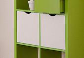 Regal KNOX mit 9 Fächern in grün
